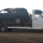 Tractari auto alba jeep